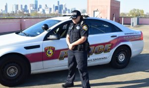 T S U Police officer on duty