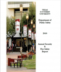 T S U D P S 2010 Annual Security and Fire Safety Report