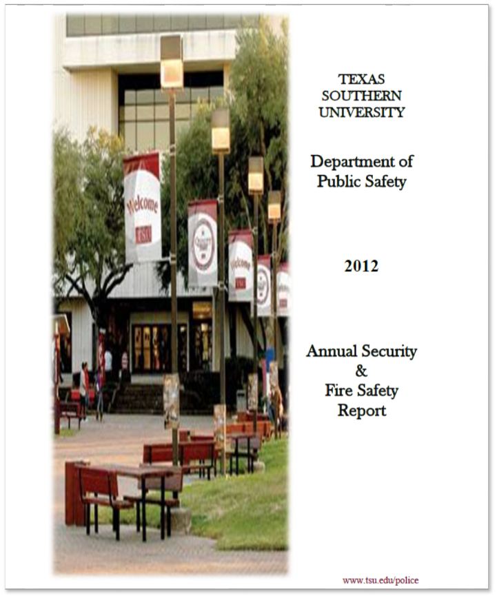 T S U D P S 2012 Annual Security and Fire Safety Report