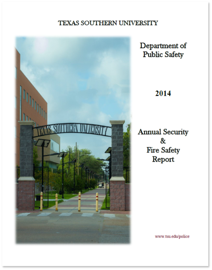 T S U D P S 2014 Annual Security and Fire Safety Report