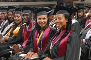 Students In Graduate ceremony