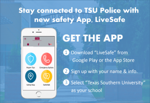 Stay Connected to T S U Police with new Safety App, LiveSafe