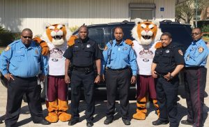 T S U P D with Texas Polices and T S U Tiger men