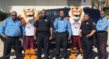 T S U P D with Texas Polices and T S U Tiger men